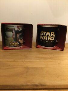 Star Wars Episode 1 The Phantom Menace 2 Brand New Mugs in Box Anakin Skywalker