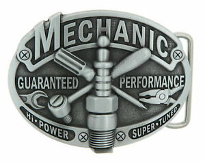 Mechanic Tradesman Metal Belt Buckle