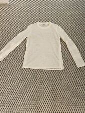 Equipment Linen Cotton Beach Sweater Bright White Eyelet Womens XS EUC