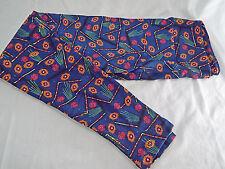 Womens LuLaRoe OS One Size Leggings Blue Red Orange Green   NEW
