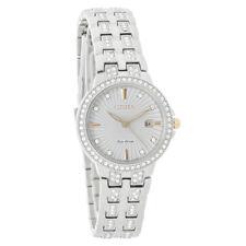 Citizen Eco-Drive Ladies Silhouette Crystal Bracelet Watch EW2340-58A