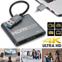 4K 1080P HDMI to USB 3.0 Video Capture Card for Games Live Streaming Conferences