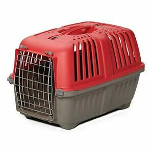 Pet Carrier Hard-Sided Dog Carrier Cat Carrier Small Animal Carrier in Red| I...