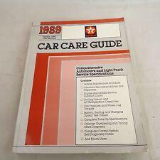 Texaco 1989 Car Care Guide