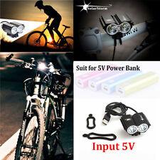 Solar Storm 8000LM X2 CREE XM-L T6 USB Waterproof Lamp LED Bicycle Headlight FH