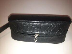 Oakley Black Leather Sunglasses Zip Around Case Soft Shell W/ Strap