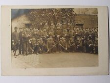 12C1 WWI CARTE PHOTO GROUPE POILU PIOU PIOU 128 e RI TENUE DE COMBAT FUSIL 14/18