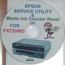 EPSON STYLUS PHOTO PX720WD WASTE INK ERROR FAULT RESET MAINTENANCE FIX DISC CD