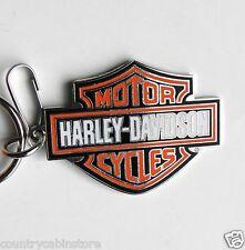 Harley Davidson BAR & SHIELD Metal Logo Key Ring Keychain Chain 2.1 inches