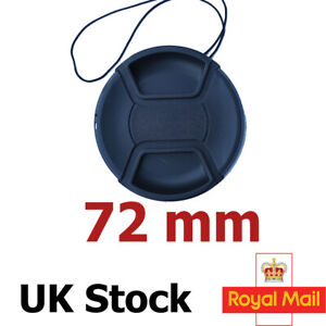 72mm Lens Cap Cover Centre Pinch Front for Canon Nikon Sony Sigma Lense uk stock
