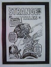 Original Production Art STRANGE TALES #101 cover, JACK KIRBY art, Human Torch