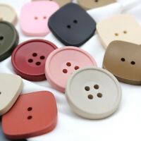 10PC Wooden Buttoned Sided Color Round Sweater Sewing Button DIY Clothes Decor