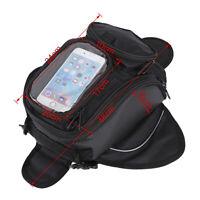 NEW Motorcycle Magnetic Black Tank Bag Motorbike/Bike Luggage Pannier Phone Map