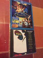 Beauty and the Beast Blu-ray/DVD 2-Disc Set Diamond Edition NEW SEALED +BONUS CD