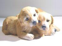 Homco Masterpiece Porcelain 1987 Labrador Retriever Puppy Dogs Figurine