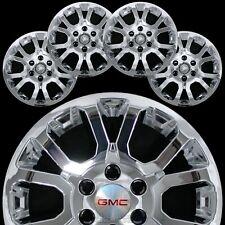 "4 Chrome 2014-19 Gmc Sierra 1500 Yukon 18"" Wheel Skins Hub Caps Alloy Rim Covers"