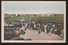 POSTCARD MONTREAL CANADA CARTIERVILLE AIRPORT VIEW 1930'S