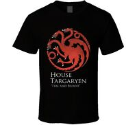 Targaryen Fire and Blood Game of Thrones Standard Black T-Shirt S to 5XL
