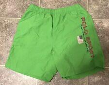 Vtg Polo Sport Swimming Trunks Mens L Ralph Lauren Shorts Spell Out 90s Green