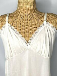 Vintage 60/'s ivory nylon lace  half slip by Prova burlesque sissy
