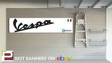 VESPA scooter atelier garage bannière PIAGGIO, 150GS, 250 GTS primavera