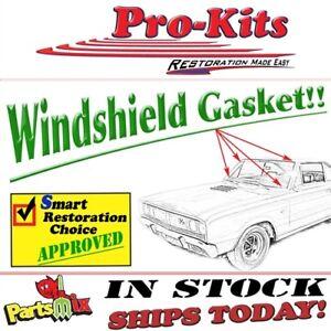 Fits 66 67 Charger Coronet GTX Belvedere Windshield Weatherstrip Gasket Seal
