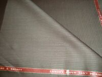 "5.5 yd HOLLAND SHERRY WOOL Super 120s Merino FABRIC 8 oz SUITING 198"" Brown BTP"