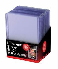(25-Pack) Ultra Pro Thick 100pt Toploader Card Holders Trading Card Toploaders