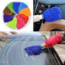 1x Mikrofaser-Autowäsche waschen Reinigung Handschuh Polieren Shampoo Staubtuch