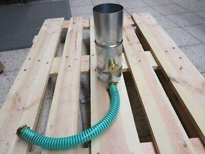 Poesis Regenwassersammler Titanzink 6-tlg/100mm mit Schlauchanschluss-Set