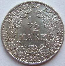 TOP! 1/2 Mark 1909 G in VORZÜGLICH / STEMPELGLANZ SELTEN !!!