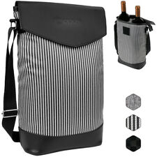 Wine Carrier Bag Insulated 2 Bottle Cooler Protection Carrying Tote Case Travel