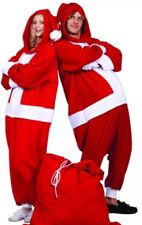 Adult SANTA CLAUS Funsie PAJAMAS Costume Jumpsuit CHRISTMAS HOLIDAY Xmas 1 Size