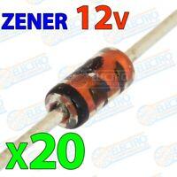 Diodo Zener 12v 500mW ±5% - Lote 20 unidades - Arduino Electronica DIY