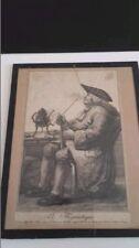 """Gravure XVIIIème siècle """"Le flegmatique"""" signée ROBERT BRIQUET"""