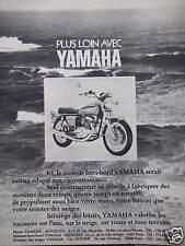 PUBLICITÉ 1973 PLUS LOIN AVEC YAMAHA ICI LE MOTEUR HORS-BORD SERAIT MIEUX ADAPTÉ