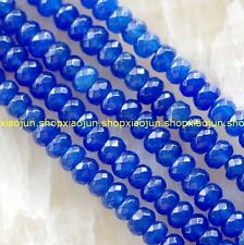 5x8mm Faceted blue Topaz Gemstone Abacus Loose Beads 15''AAA