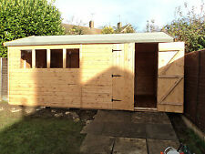 16x8 Heavy Duty  Wooden Timber Shed,Workshop/Garage T&G Cladding