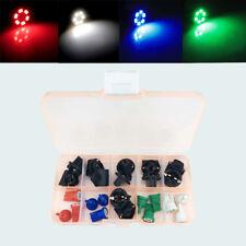 12x Car Green Blue White Red T10 LED Bulb Cluster Instrument  Indicator  lights