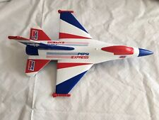 Lockheed F-16 Fighting Falcon Pepsi Jet Fighter Plane DieCast Metal Coin Bank