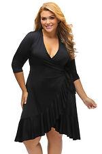 Abito Drappo Svasato Taglie forti Grandi Curvy Formosa Plus Size Lace Dress XXXL