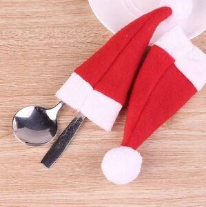 1 lot de 10 Bonnets de Noël Décor de Table Neufs