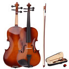 New Hot 4/4 Full Size Natural Acoustic Violin Fiddle with Case Bow Rosin