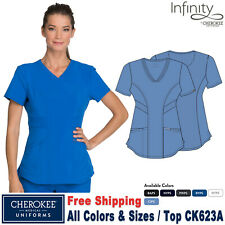 Cherokee Scrubs Infinity Women's Medical Patch Pocket V-Neck Top Ck623A
