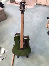 Keith Urban Signature Acoustic Guitar Player Military Green Side:Right