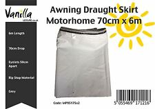 Caravan and Motorhome Awning Draught Skirt 70cm (2ft 3in) Drop - 6 M