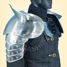 MEDIEVAL GOTHIC FANTASY Shiny Metal Shoulder Guard WARRIOR PAULDRON ARMOUR