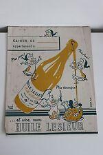 Ancien Protège Cahier Huile LESIEUR par HERVE Collection Publicité