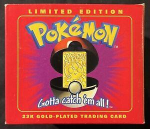 Burger King Pokemon Jigglypuff 23K Gold-Plated Card Red Box New Sealed!