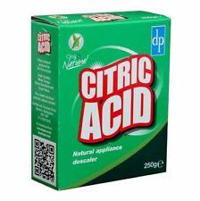 Acide Citrique 250 g Naturel Nettoyant Cuisine Appareils anticalcaire Remover éc...